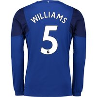 Everton Home Shirt 2017/18 - Junior - Long Sleeved with Williams 5 printing