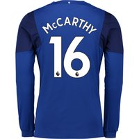 Everton Home Shirt 2017/18 - Junior - Long Sleeved with McCarthy 16 printing