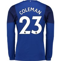 Everton Home Shirt 2017/18 - Junior - Long Sleeved with Coleman 23 printing