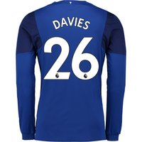Everton Home Shirt 2017/18 - Junior - Long Sleeved with Davies 26 printing