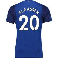 Everton Home Shirt 2017/18 - Junior with Klaassen 20 printing
