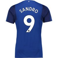 Everton Home Shirt 2017/18 - Junior with Sandro 9 printing