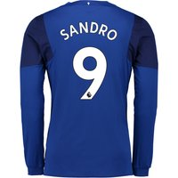 Everton Home Shirt 2017/18 - Junior - Long Sleeved with Sandro 9 printing