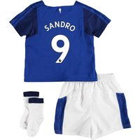 Everton Home Baby Kit 2017/18 with Sandro 9 printing