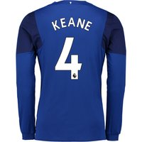 Everton Home Shirt 2017/18 - Junior - Long Sleeved with Keane 4 printing