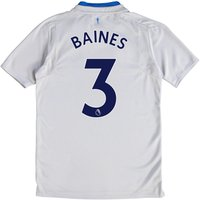 Everton Away Shirt 2017/18 - Junior with Baines 3 printing