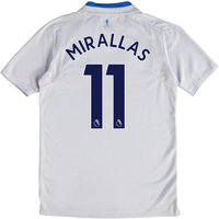 Everton Away Shirt 2017/18 - Junior with Mirallas 11 printing