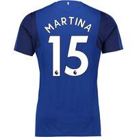Everton Home Shirt 2017/18 - Junior with Martina 15 printing