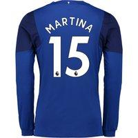 Everton Home Shirt 2017/18 - Junior - Long Sleeved with Martina 15 printing