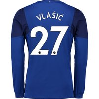 Everton Home Shirt 2017/18 - Junior - Long Sleeved with Vlašic 27 printing