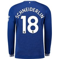 Everton Home Shirt 2018-19 - Long Sleeve with Schneiderlin 18 printing