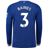 Everton Home Shirt 2018-19 - Long Sleeve with Baines 3 printing