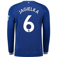 Everton Home Shirt 2018-19 - Long Sleeve with Jagielka 6 printing