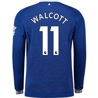 Everton Home Shirt 2018-19 - Long Sleeve with Walcott 11 printing