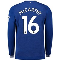 Everton Home Shirt 2018-19 - Long Sleeve with McCarthy 16 printing