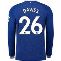 Everton Home Shirt 2018-19 - Long Sleeve with Davies 26 printing