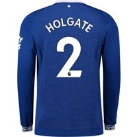 Everton Home Shirt 2018-19 - Long Sleeve with Holgate 2 printing