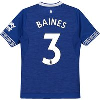 Everton Home Shirt 2018-19 - Kids with Baines 3 printing