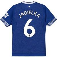 Everton Home Shirt 2018-19 - Kids with Jagielka 6 printing