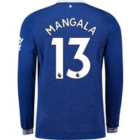 Everton Home Shirt 2018-19 - Long Sleeve with Mangala 13 printing