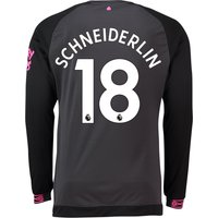 Everton Away Shirt 2018-19 - Long Sleeve with Schneiderlin 18 printing