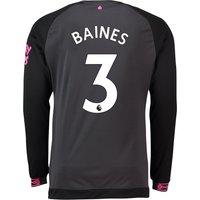 Everton Away Shirt 2018-19 - Long Sleeve with Baines 3 printing