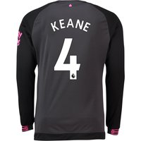 Everton Away Shirt 2018-19 - Long Sleeve with Keane 4 printing