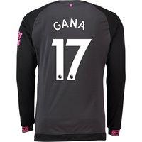 Everton Away Shirt 2018-19 - Long Sleeve with Gana 17 printing