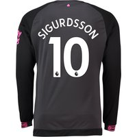 Everton Away Shirt 2018-19 - Long Sleeve with Sigurdsson 10 printing