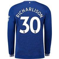 Everton Home Shirt 2018-19 - Long Sleeve with Richarlison 30 printing