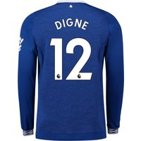Everton Home Shirt 2018-19 - Long Sleeve with Digne 12 printing