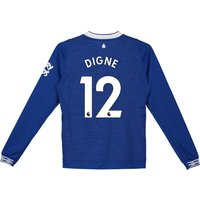 Everton Home Shirt 2018-19 - Kids - Long Sleeve with Digne 12 printing
