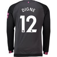 Everton Away Shirt 2018-19 - Long Sleeve with Digne 12 printing
