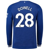 Everton Home Shirt 2018-19 - Long Sleeve with Dowell 28 printing