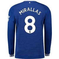 Everton Home Shirt 2018-19 - Long Sleeve with Mirallas 8 printing