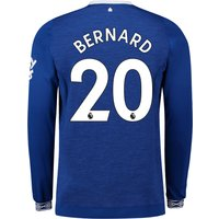 Everton Home Shirt 2018-19 - Long Sleeve with Bernard 20 printing