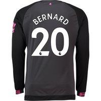 Everton Away Shirt 2018-19 - Long Sleeve with Bernard 20 printing