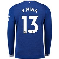 Everton Home Shirt 2018-19 - Long Sleeve with Y.Mina 13 printing