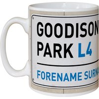 Everton Personalised Street Sign Mug