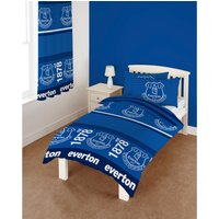 Everton Stripes Single Duvet Set