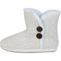 Everton Cable Knit Slipper - Cream - Womens