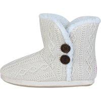 Everton Cable Knit Slipper - Cream - Older Girls