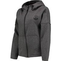 Everton Ath Tech Fleece FZ Hoodie - Charcoal Marl - Womens
