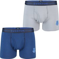 Everton 2 Pack Home and Away Boxers - Blue/Grey - Mens