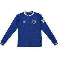 Everton Home Shirt 2018-19 - Kids - Long Sleeve