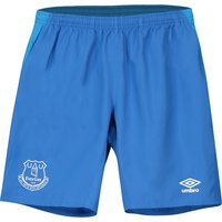 Everton Training Long Woven Shorts - Royal Blue - Kids