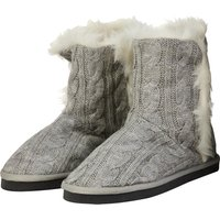 Everton Boot Style Slipper - Grey - Womens