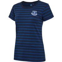 Everton Core Basic Stripe T-shirt -Navy - Womens