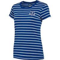 Everton Core Basic Stripe T-shirt -Royal - Womens