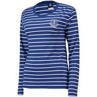 Everton Core Stripe Long Sleeve T-Shirt -Royal -Womens